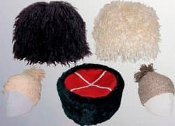Папахи,  кубанки, шапки из козьих шкур и овчины