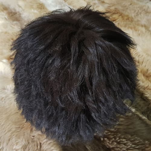 Папаха из овчины черно-коричневого цвета