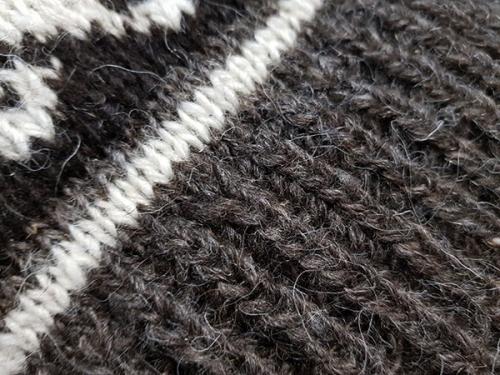 """Теплый шерстяной свитер с горлом орнамент """"олени"""""""