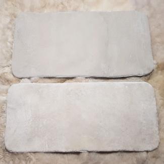 Накидки из овчины белые на заднюю сидушку и спинку автомобиля