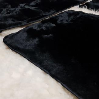 накидки на заднее сиденье  из овчины черные