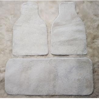 Накидки на задние сиденья из овчины - белые