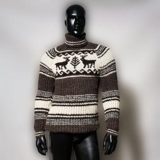"""Шерстяной свитер """"С оленями"""""""